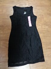 TIANA B. women's NWT sz S black sleeveless $98 above the knee dress