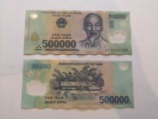 More details for 1,000,000 vietnamese dong (2x 500,000 genuine, polymer, circulated bank notes)