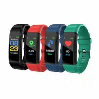 Fitness Armband Uhr Pulsmesser Wasserdicht Aktivitätstracker Schrittzähler Sport