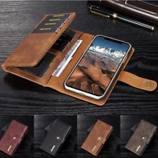 Ultra Fino Cuero Billetera Magnético Dar La vuelta Estar Caso Para iPhone X 8 7
