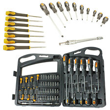 52 PC Screwdriver & Drill Bit Set Philips Torx Polydrive Hardened Magnetic Tip