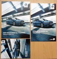 1648 BMW 5er Touring 530d 2017 brochure Prospekt + Preise + kleine broschüre