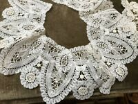 2 vintage  Hand Made Lace Collar - Brussels and 4 cuffs unused w card