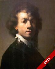 REMBRANDT SELF PORTRAIT YOUNG MAN PAINTING MASTER ARTIST ART REAL CANVAS PRINT