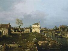Canaletto Italiano Porta Portello Padua Antigua Pintura del arte cartel impresión bb5056a