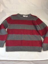 Sonoma Kids Medium Ages 5/6 Size Sweater Red & Grey Stripe Sweater