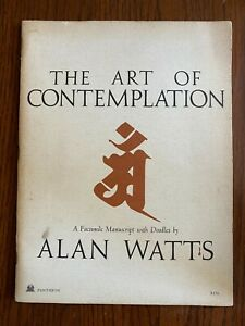 The Art of Contemplation RARE 1st Edition By Alan Watts 1972 Pantheon