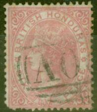 British Honduras 1865 6d Rose SG3 Ave Used