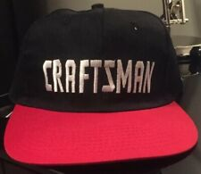 VINTAGE CRAFTSMAN TOOLS BLACK RED EMBROIDERED SNAPBACK HAT CAP RARE