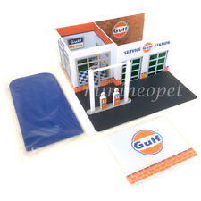 GREENLIGHT 57012 MECHANIC'S CORNER VINTAGE GAS STATION GULF OIL 1/64 CHASE