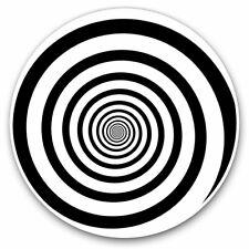 2 x Vinyl Stickers 10cm - Black & White Optical Illusion Cool Gift #14505