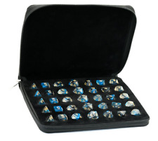 Black Leather Padded Dice Storage Tray - RPG DnD D&D Dungeons Dragons d20 AD&D