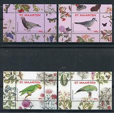 St Maarten 2016 MNH Birds 4 x 1v S/S 9-12 Parrots Pigeons Doves Bird Stamps