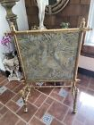 victorian chippendale chinoiserie gold faux bamboo fireplace screen