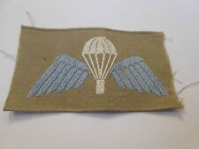 post war parachute jump wing award brevet   woven khaki drill