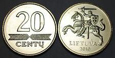Lithuania 2010 20 Centu Coin BU Very Nice KM# 107