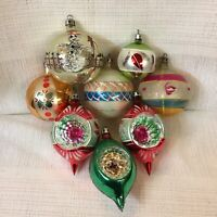 LOT OF 8 VINTAGE HAND BLOWN GLASS CHRISTMAS ORNAMENTS ~ SNOWMAN ~ MADE IN POLAND