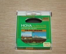 HOYA Circular Polarizer Cir-Polarizing Filter High Quality 58mm Pitch: 0.75