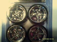 1:24 Scale1 Set of 4 Plastic Custom 5 Spoke Rims & Tires w/4 metal axles-Set #1