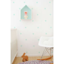 Kids Mint Dots Vinyl Wall Stickers