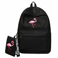 Backpacks Women Simple Flamingo Printing Backpack Teenage Girls Laptop School