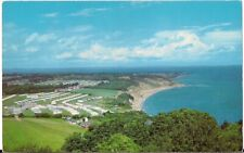 SUPERB OLD POSTCARD - WHITECLIFF BAY & CARAVAN SITE - ISLE OF WIGHT 1973