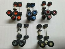 TYCO 10 SET COMBO COLOR  FRONT/REAR WHEELS SET. FRONT OVERSIZED RARE! FREESHIP!
