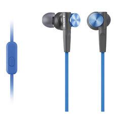 Genuine Sony MDR-XB50AP Headphones Earphones Extra Bass In-Ear MDRXB50 (Blue)