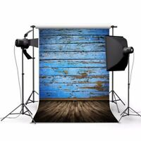 3x5FT retro Photography Background For Props Studio Backdrop Blue Board