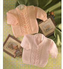 baby girls cardigans dk knitting pattern 99p