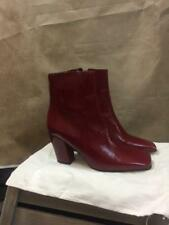 ZARA RED GENUINE LEATHER HIGH HEELED BOOTS SIZE UK 6 EUR 39 REF: 6900 201