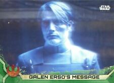 Star Wars Rogue One Series 2 Green Base Card #22 Galen Erso's Message