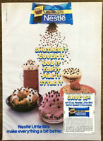 1984 Nestle Little Bits Semi Sweet Chocolate Chips PRINT AD Smother It Cover It