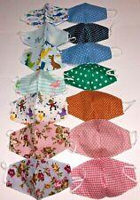KIDS Mask REVERSIBLE HANDMADE CHILDREN CLOTH FACE MASK Cotton Wear Two Ways