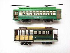 2 Classic HO Streetcars: Desire St. Trolley, Powell & Mason Car