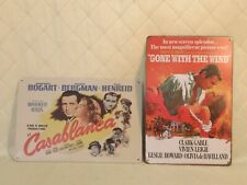Casablanca Gone with the Wind Tin Signs Repop Old Movie Art Wall Plaque 8x11