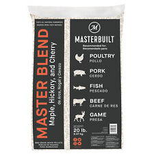 Masterbuilt Maple, Hickory, and Cherry Master Blend BBQ Wood Pellets, 20 Pounds