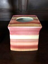 Linen & Things Ceramic Tissue Klernex Holder Southwestern Hand Painted Stripe