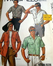 *VTG 1970s MENS SHIRT Sewing Pattern CHEST 44 X-Large