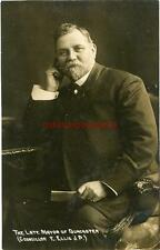 REAL PHOTO POSTCARD OF THE LATE MAYOR OF DONCASTER, E. ELLIS JP, WEST YORKSHIRE
