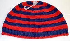 Gap Kids Navy Blue Red Striped Winter Knit Hat Cotton Acrylic Blend New Size S M