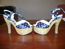 New listing Orange Tarr Vintage Wood Platform Disco Shoes Size 8