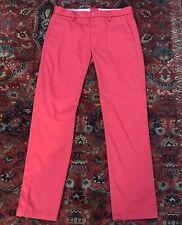 Nwot Men's Levi Strauss & Co Red Chino Slim Golf Dress Pants 32x32 New Levi'S
