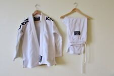 Kingz Kimonos White A2 High Quality Jiu Jitsu Uniform Clothing-Excellent!