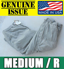 US MILITARY ECWCS GEN III Level 7 Primaloft Extreme Cold Weather Pants MEDIUM M