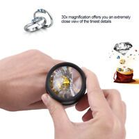 Jewelry Optical Magnifier Glasses 30x Magnifying Lens Jewelries Loupes Kit Tool