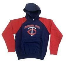 Boy's MLB Minnesota Twins Hoody SweatshirtHoodie Youth Navy M-XL Baseball