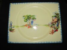 "CLARICE CLIFF DESIGN  ""BIARRITZ"" RECTANGULAR PLATE : ROYAL STAFFORDSHIRE"