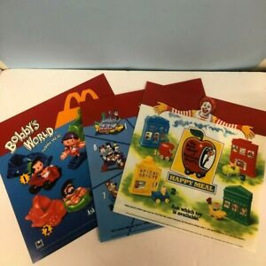 SUPER RARE 1990s McDonald's Vintage Happy Meal Promotional Posters- Lot of 3!!!