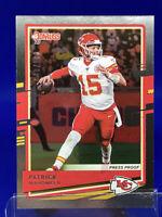 2020 Donruss Patrick Mahomes Silver Press Proof /100 Kansas City Chiefs